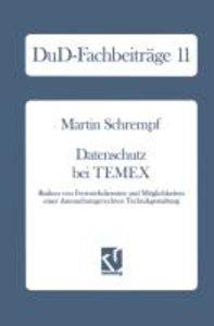 Datenschutz bei TEMEX