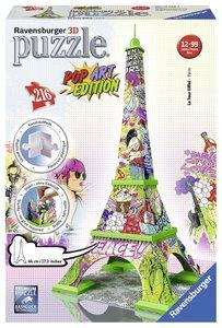 Pop Art Edition - Eiffelturm 3D Puzzle-Bauwerke