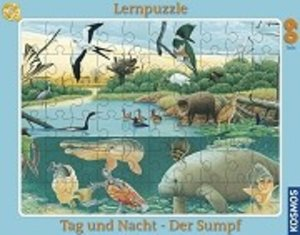 Kosmos 731151 - Biologie Lernpuzzle: Sumpf, 60 Teile Puzzle