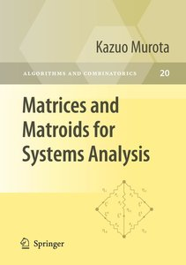 Matrices and Matroids for Systems Analysis