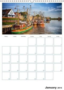 East Friesland - the old harbours / UK-Version / Organizer (Wall