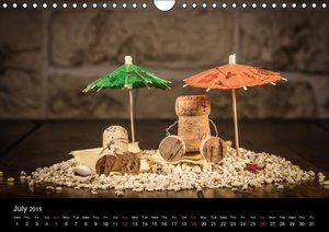 Crazy Corks - Four seasons in Corkland (Wall Calendar 2015 DIN A