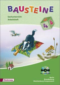 Bausteine Sachunterricht 4. Arbeitsheft mit CD-ROM. Brandenburg