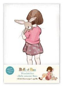 Belle & Boo Wandsticker. Motiv: Belle umarmt Boo