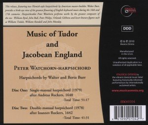Music Of Tudor And Jacobean England