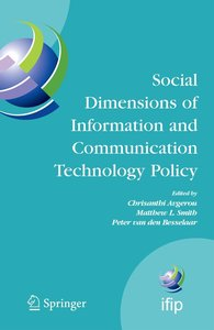Social Dimensions of Information and Communication Technology Po