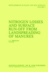 Nitrogen Losses and Surface Run-Off from Landspreading of Manure