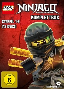 LEGO NINJAGO Komplettbox (Staffel 1-6) (13 DVDs)