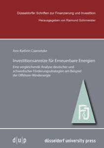Investitionsanreize für Erneuerbare Energien