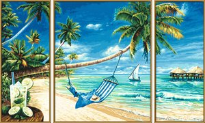 Schipper Malen nach Zahlen - Südseeträume (Triptychon)