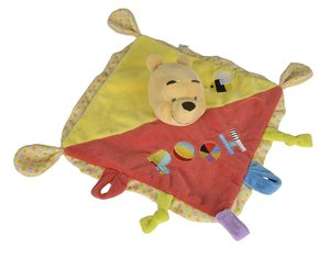Simba 6315873652 - Disney Winnie The Puuh, 3D Plüsch Schmusetuch