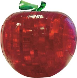 HCM 3005 - Crystal Puzzle: 3D Apfel rot