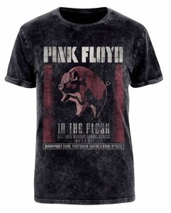 In The Flesh (Acid Wash T-Shirt,Schwarz,L)