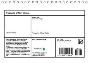Treasures of New Mexico (Tischkalender 2016 DIN A5 quer)