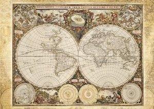 Historische Weltkarte. Puzzle