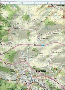 Eisenach, Ruhla und Umgebung 1 : 35 000. Radwander-und Wanderkar