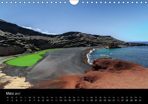 Lanzarote Meisterwerke der Vulkane (Wandkalender 2017 DIN A4 que