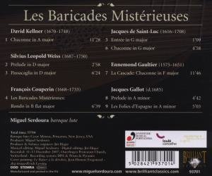 Les Baricades Misterieuses-Chaconnes for Lute