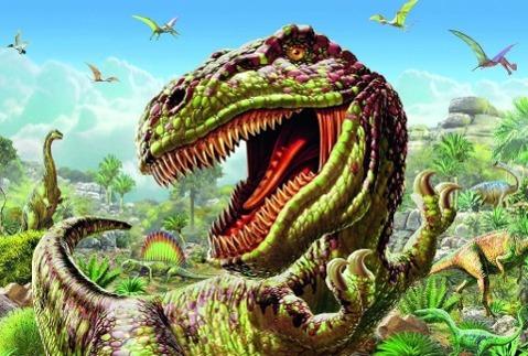 T-Rex. Kinderpuzzle Standard 200 Teile - zum Schließen ins Bild klicken