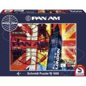 Schmidt Spiele 59505 - PAN AM: Fly to London, 1000-teiliges Puzz