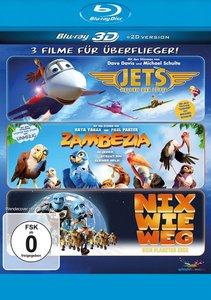 Überflieger-Box - 3 Filme für Überflieger 3D (Zambezia, Jets, Ni