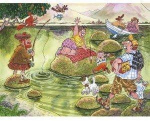 Jumbo Spiele 17129 - Wasgij Mystery 2: Loch Ness, Puzzle 150 Tei
