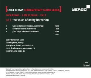 Earle Brown Contemporary Sound Series,Vol.3 - zum Schließen ins Bild klicken