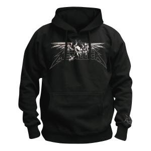 Winged Scary Guy,Kapuzenpullover,Gr.M,Schwarz