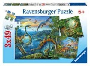 Faszination Dinosaurier. Puzzle 3 X 49 Teile