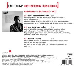 Earle Brown Contemporary Sound Series,Vol.2