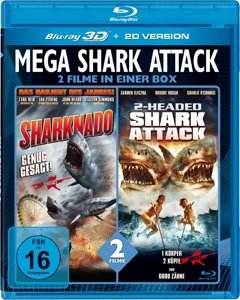 Mega Shark Attack-2 Filme in einer Box