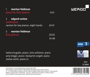 Ameriques/Piece for Four Pianos/Five Pianos
