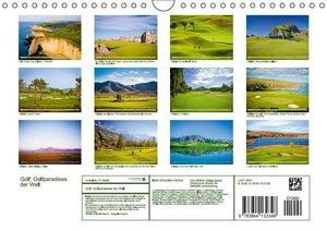 Golf: Golfparadiese der Welt (Wandkalender 2016 DIN A4 quer)