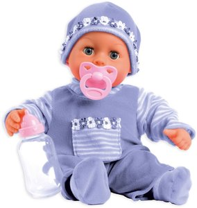 Bayer Design 93800-lila - Babypuppe First Words mit Schlafaugen,