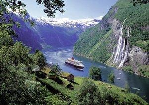 Norwegischer Fjord. Puzzle 1000 Teile
