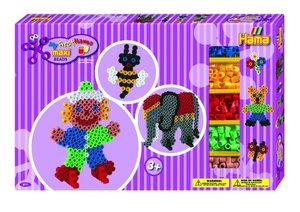 Hama 8711 - Maxi Geschenkpackung, 2 Stiftplatten: Elefant & Clow