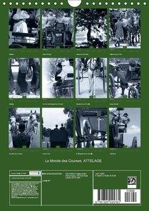 Le Monde des Courses ATTELAGE (Calendrier mural 2015 DIN A4 vert
