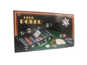 Wangor 30088LAS - Pokerkoffer 300 Chips Laser, 13.5 Gramm, silbe
