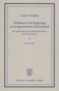 Parlament und Regierung im neugeordneten Deutschland