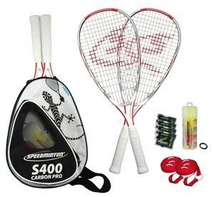 Speedminton® Set S400 inkl. Easycourt, Profi-Set aus Carbon Comp