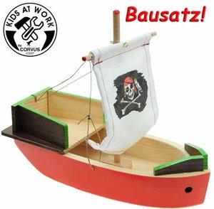 Corvus A 600592 - Kids at work: Piratenschiff aus Holz