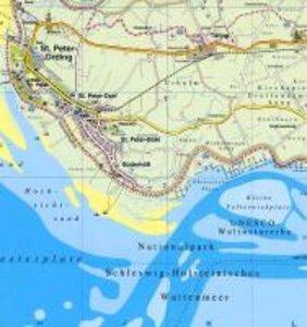 Nordfriesland mit Sylt, Amrum, Föhr und Halligen 1 : 60 000