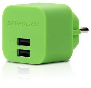 Speedlink TURAX Power Adapter 2-Port, Steckdosen-Ladegerät mit z
