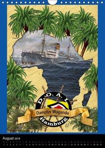 Deutsche Handelsschiffe vor 1945 (Wandkalender 2016 DIN A4 hoch)