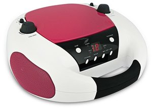 Tragbares CD-Radio CD52 weiss/rosa