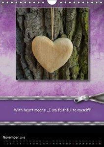 With Heart / UK-Version (Wall Calendar 2015 DIN A4 Portrait)