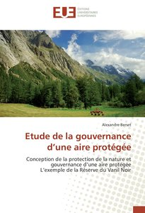Etude de la gouvernance d'une aire protégée