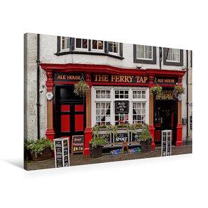 Premium Textil-Leinwand 90 cm x 60 cm quer Pub in South Queensfe