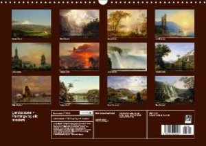 Landscapes - Paintings by old masters (Wall Calendar 2015 DIN A3