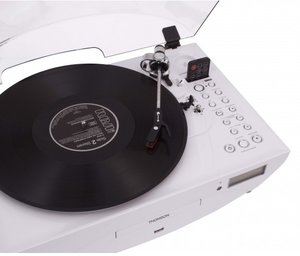 Thomson Plattenspieler TT401CD Ellipse, weiss